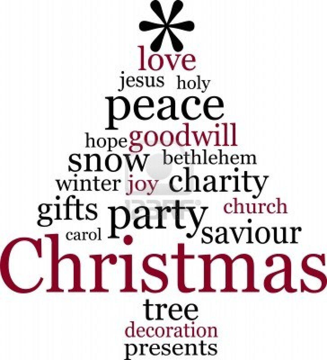 Christmas Tree Name Generator : Christmas tree word tag cloud abstract image shift