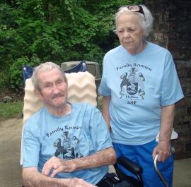 Nana and Grandpa Joe at their family reunion last summer