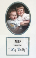 "MD means ""My Daddy"""