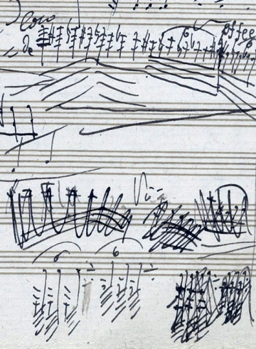 Handwritten musical score by Beethoven