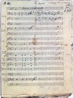 Symphonie n° 31 en ré majeur, by Wolfgang Amadeus Mozart
