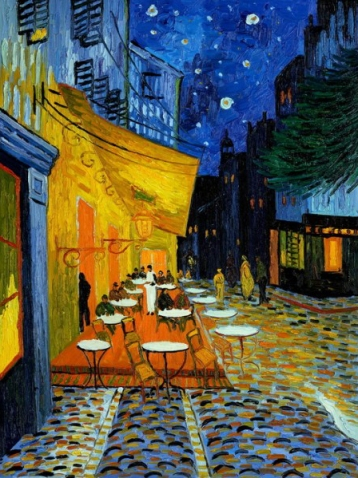 Cafe Terrace at Night, by Vincent Van Gogh