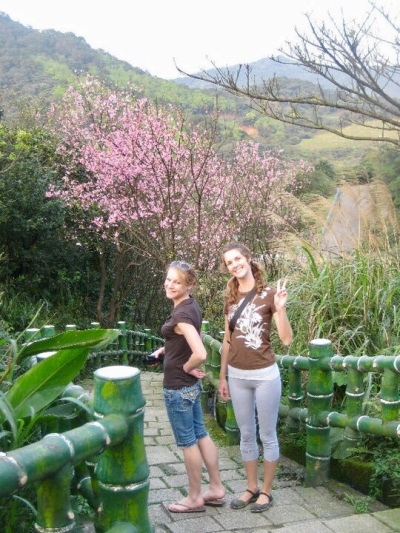 Exploring Taiwan's natural beauty with a coworker