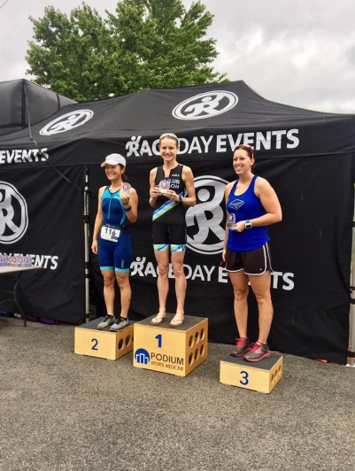 Got 1st place in my age group at the sprint tri